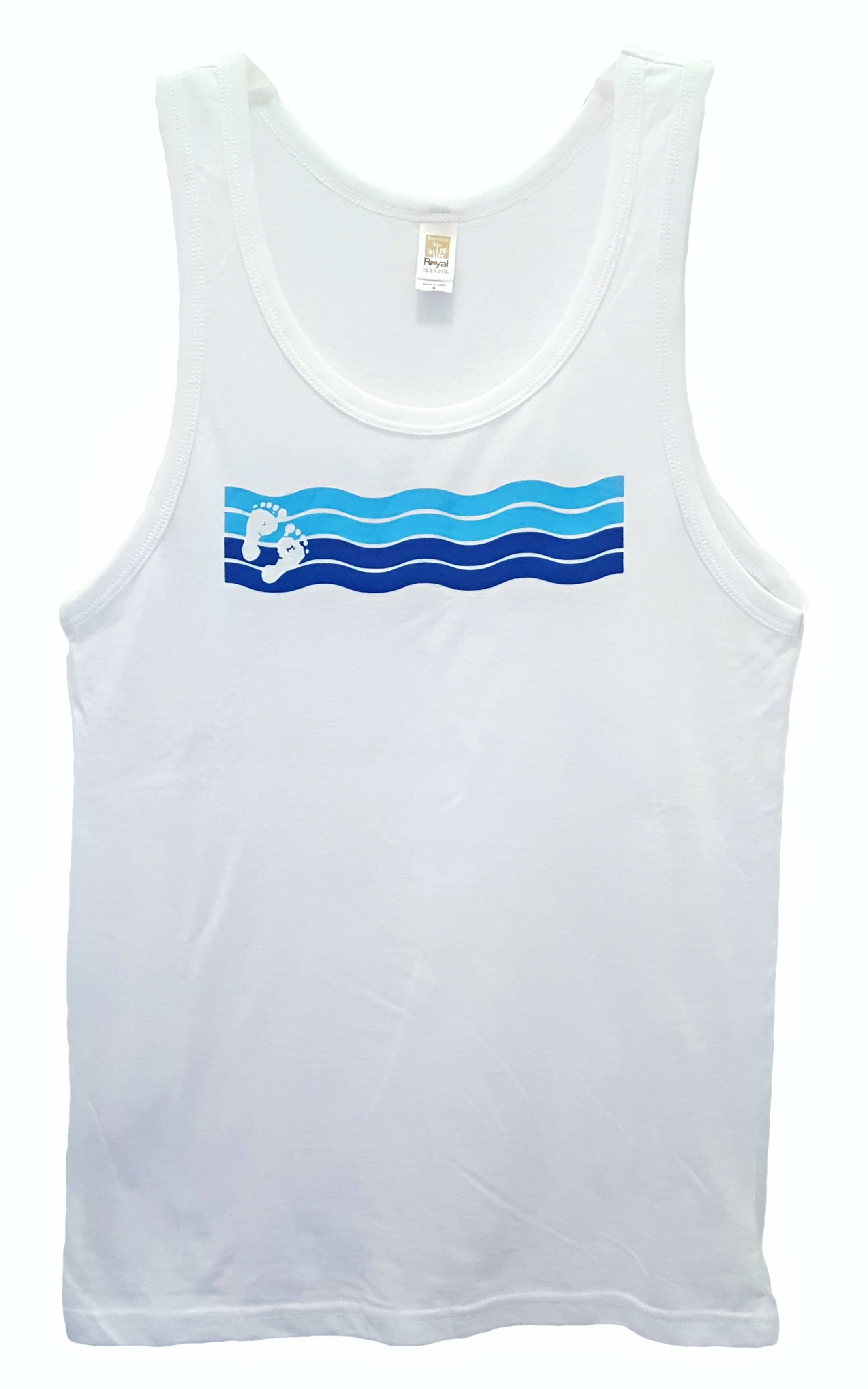 a36398e2bfb0f Wave Tank Unisex Bamboo Organic Cotton - Barefoot Eco Outfitters
