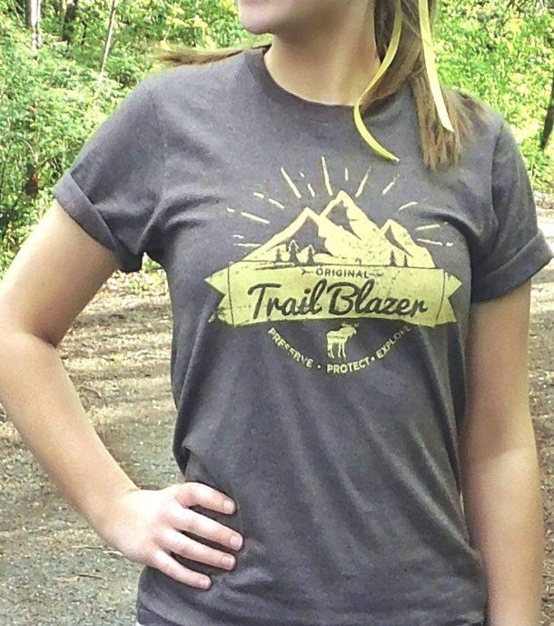 Unisex Trail Blazer Tee Heather Bark/Campground Yellow