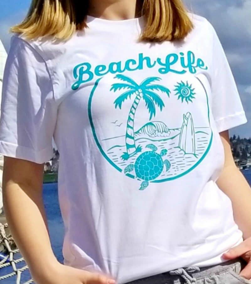Beach Life Unisex Organic Cotton Tee