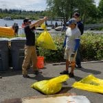 Trash Weighing Seattle Summer Cleanup