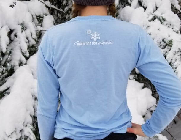 Into the Mountains Snowflake Tee Back