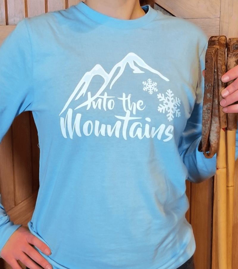 Into the Mountains Snowflake Tee Shop Page