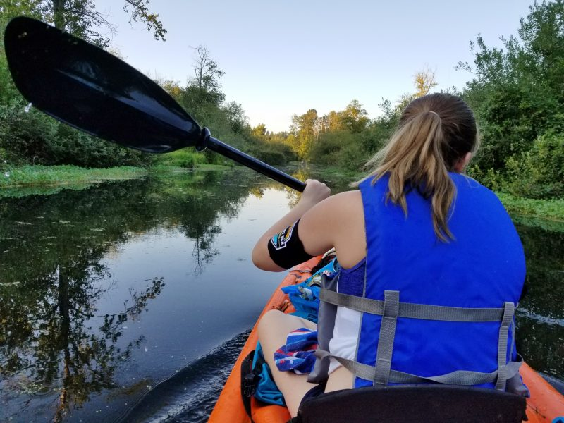 Skyler Strandness Kayak Cleanup