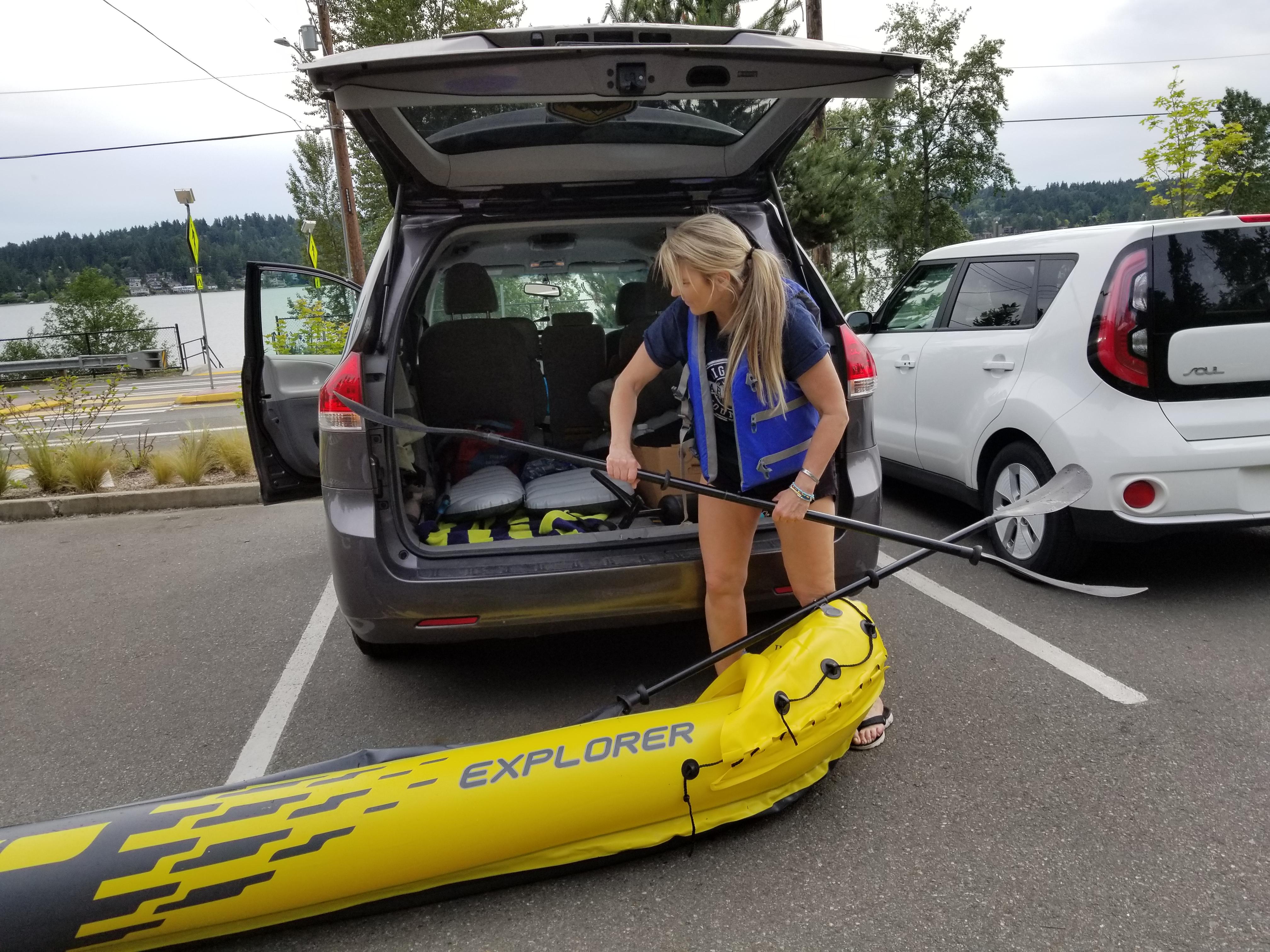 Kayak Lake Cleanup