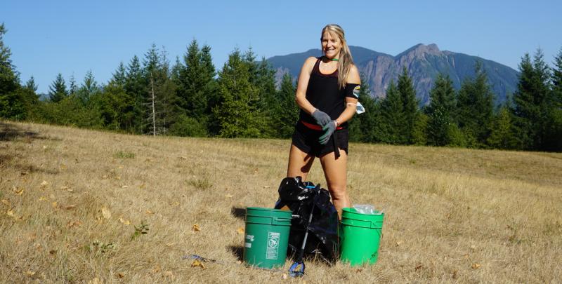 Rattlesnake Mountain Trash Cleanup